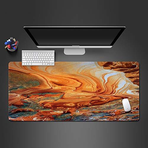 Alfombrilla de ratón de río de montaña de Estilo único de Arte 3D Almohadilla Lavable de Goma Natural Alfombra Decorativa Moderna 1000x500x2mm