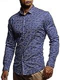 LEIF NELSON Herren Hemd Slim Fit Langarm Freizeithemd für Anzug Business Hochzeit Freizeit Party T-Shirt Kurzarm LN3465;