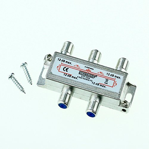 Schwaiger Sat Verteiler 4 fach 5-2250 MHz Silber VTF7844 switch Multiswitch