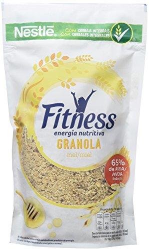 Cereales Nestlé Fitness granola Copos de avena integral y trigo con miel - Paquete de cereales de 300 gr