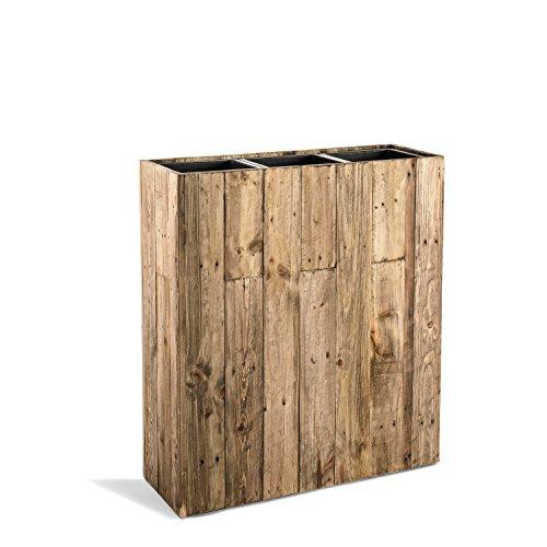 "Raumteiler ""Woodline High Box"" Dark Flame Wood Rechteckig 75x66.5x24.5cm - F476 - 2"