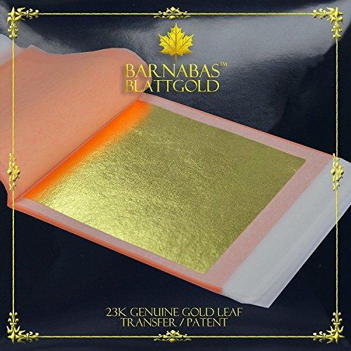 Barnabas Echtes Blattgold Lose 23 Karat, 85 X 85mm, 25 Blätter in Blattsammlung