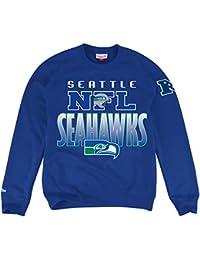 "Seattle Seahawks Mitchell & Ness NFL ""Toss Up"" Men's Crew SweatShirt Chemise"