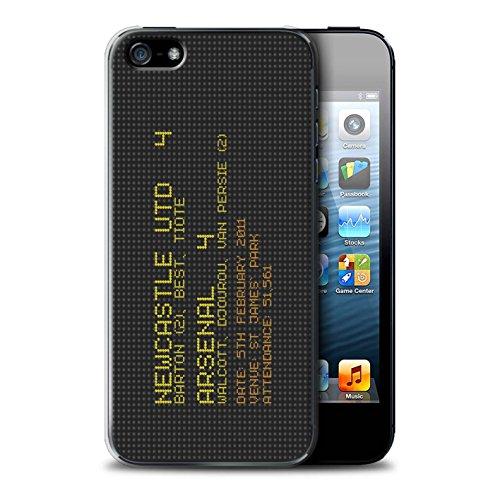 Offiziell Newcastle United FC Hülle / Case für Apple iPhone 5/5S / Pack 7pcs Muster / NUFC Berühmte Fußball Ergebnis Kollektion 2011