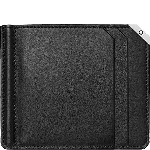 Montblanc Wallet 6cc with Money Clip Large Black