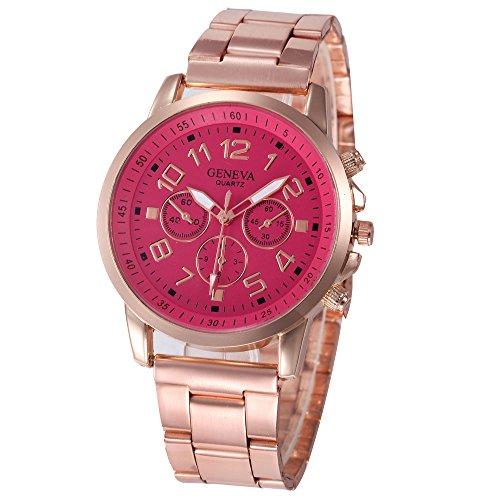 Uhren Damen Edelstahl Sportuhr Digital Uhren Quarz Schüler Retro Armbanduhr Handgelenk analoge Uhr Luminous Uhren Uhrenarmband Watch,ABsoar