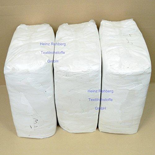 Rehberg´s 30 kg Putzlappen geschnitten aus Trikot weiss A Baumwolle Putztücher -