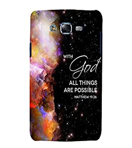 printtech Cool Quotes God Back Case Cover for Samsung Galaxy J1 (2016) / Versions: J120F (Global); Galaxy Express 3 J120A (AT&T); J120H, J120M, J120M, J120T Also known as Samsung Galaxy J1 (2016) Duos with dual-SIM card slots