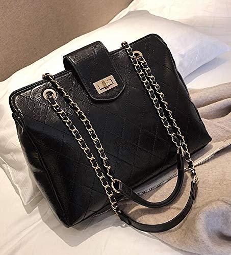 39e24ca4346f DJBMENG Luxury Handbag 2019 Retro Fashion PU Heather Women's Designer  Handbag Crocodile Pattern Shoulder Messenger Bag 23 X 8 X 22 Cm Black