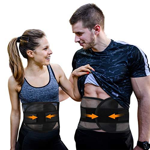 Tencoz Cintura Entrenador, Faja Lumbar de Trabajo para Quemar Grasa Cinturón de Cintura Transpirable Faja Reductora Adelgazante para Hombre y Mujer(30-37inch)