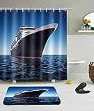 LNAG Duschvorhänge 3D-Digitaldruck-Polyester-Kreuzschiff , 150*180