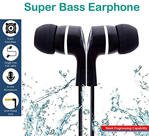 GKP PRODUCTS in Ear Earphone/Headphone with Mic & Super HD Bass Stereo for All Mobile Phones Model 125899