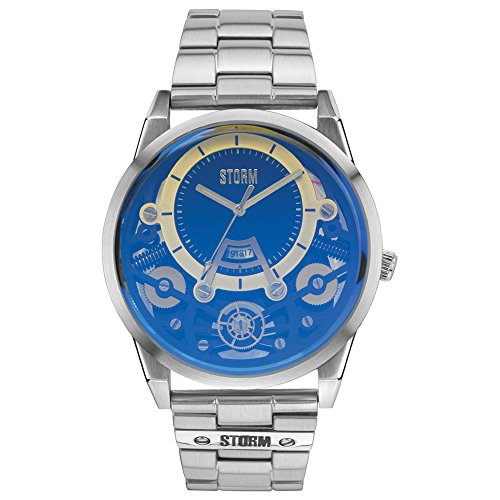 STORM London Mechron Herrenuhr silber/blau 47228/B