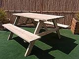 Mesa de picnic Leipzig 200cm cerveza banco de madera muebles de jardín cerveza mesa