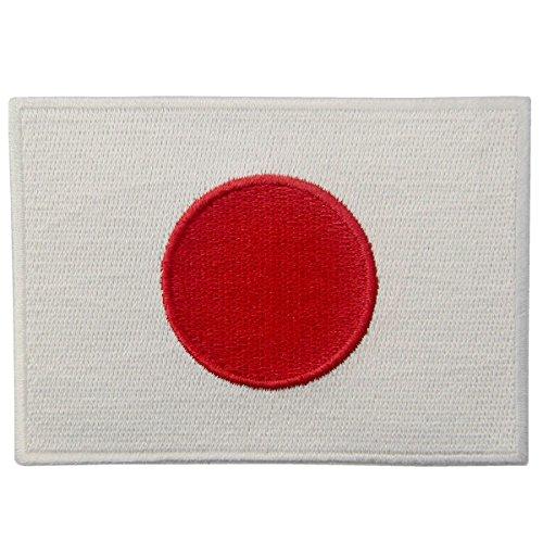 Bandera Japón Emblema Japonés Parche Bordado Aplicación