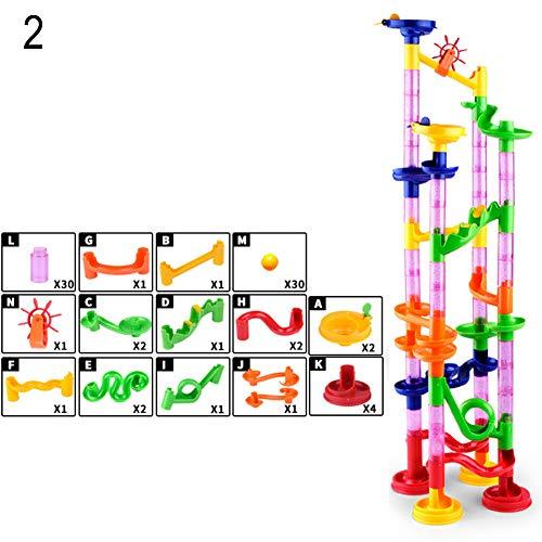 (mAjglgE DIY BAU Labyrinth Ball Track Beads Race Run Building Block Kinder Spielzeug Geschenk)