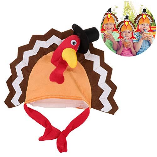 Thanksgiving Party Hats mit Kopf Truthahn Hut Kostüm für Erwachsene Turkey Costume - Niedliche Qualle Kostüm