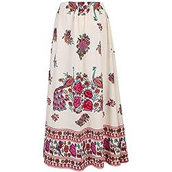 Faldas largas de la falda del Hippie de Bohemia alta ocasional de las mujeres de la falda larga de las mujeres
