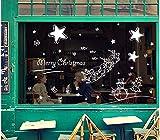 ZBYLL Weihnachten Fensteraufkleber Dekorative Kleidung Shop Glas Plakat Weihnachten Glastür Aufkleber Wand Aufkleber