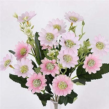 iUcar Pequeño Fresco Milán Crisantemo Flor de Margarita Artificial Flor de Bricolaje Decoración para el hogar Rosa