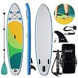 Triclicks Stand Up Paddle Gonflable 300x75x15cm (Ép), Pompe Haute Pression, Pagaie/Leash/Sac, Aileron Central Amovible, Kit de Réparation Couleurs varièes