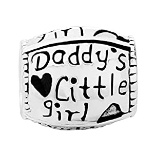 Pugster Charm Schmuck Daddy's Little Girl Daughter 925 Sterlingsilber für Pandora Armbänder