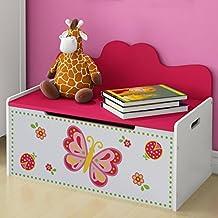 Infantastic - Banc coffre à jouets pour chambre enfant - (L/l/H) : env. 68/40/47,5 cm - MDF (laqué)
