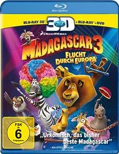 Madagascar 3: Flucht durch Europa [+ DVD, Blu-ray 3D] [Blu-ray]
