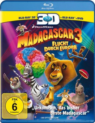 Madagascar 3 - Flucht durch Europa (+ Blu-ray + DVD) [Blu-ray 3D]