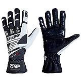 OMP KS-3Kart Handschuhe mit kk02743e Karting Griff in Erwachsene & Kinder-Größen, schwarz/weiß, 5 (Child 7-9 Years)
