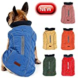 Cold Winter Dog Pet Coat Jacket Vest Warm Outfit Clothes for Small Medium Large Dogs Blue L