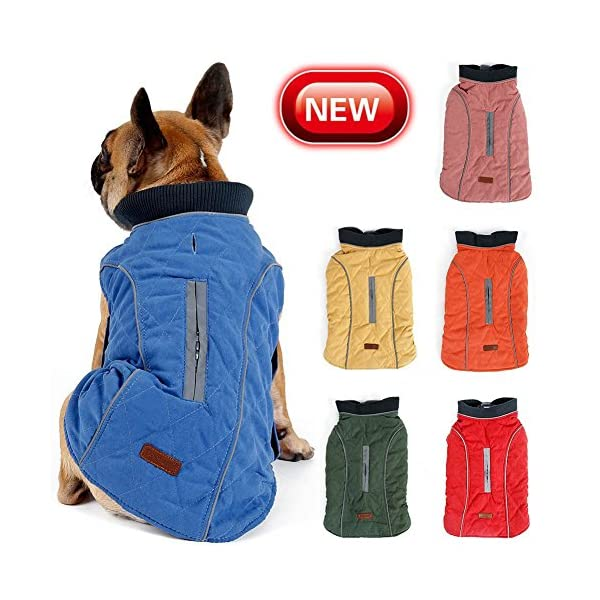 Cold Winter Dog Pet Coat Jacket Vest Warm Outfit Clothes for Small Medium Large Dogs 1