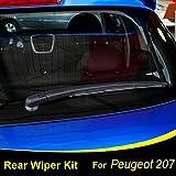 Xukey - Juego de limpiaparabrisas trasero y brazo para 207 Hatchback 2006 2007 2008 2009 2010