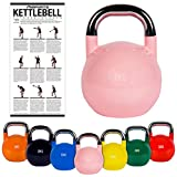 MSPORTS Kettlebell Competition 8 kg | Professional Studio Qualität | inkl. Übungsposter | Wettkampf Kugelhantel