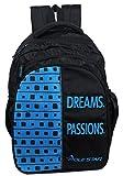 "POLE STAR ""BIG-4"" 40 Lt Black Skyblue Casual Backpack I School Bag"