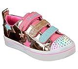 Skechers TWI-Lites-Twinkle Starz, Zapatillas para Niñas, Dorado (Rose Gold Rsgd), 35 EU