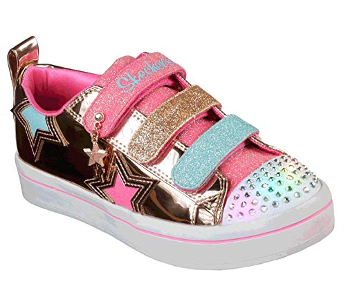 21f6af87705f0 Skechers TWI-Lites-Twinkle Starz, Baskets Fille, Or (Rose Gold Rsgd