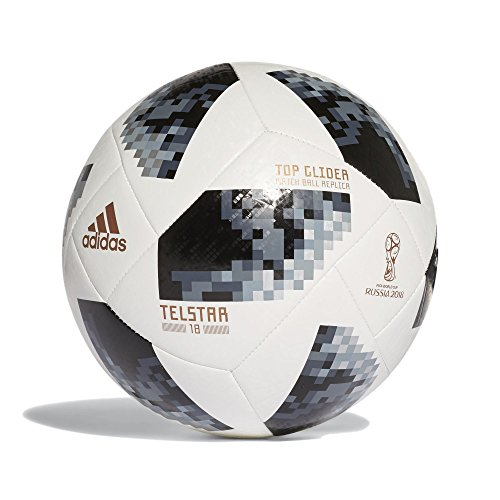 adidas Herren FIFA World Cup Top Glider Ball White/Black/Silver Metallic, 5 (Adidas 5 Fußball Größe)