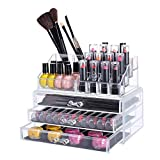 #9: Brezzycloud Cosmetic Organizer 16 Compartment Cosmetic Makeup Jewellery Acrylic Lipstick Storage Organiser Box