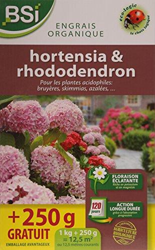 BSI Engrais pour Bio Hortensia/Rhododendron 12,5 m