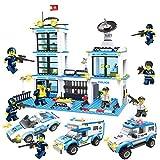 DYMAS Building Block City Series Polizeistation montiert Kinderspielzeug Polizei allgemeine Direktion Stadt Roundup