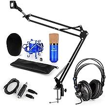 auna CM001BG V3 • Set Microfono XLR USB Color Blu Oro • A Condensatore 45b51cfe923a