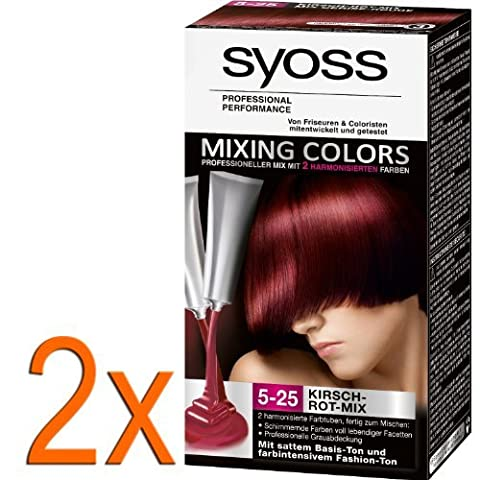 Syoss Mixing Colors 5-25 Kirsch-Rot-Mix, 2er Pack (2