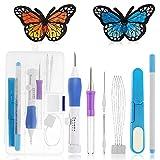 Stickerei Pen Kit, Galopar Magie Stickerei Pen Set Stickmaschinen Punch Nadel Kit Stricken Nähwerkzeuge für Stickerei DIY Threader Nähen