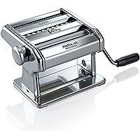Marcato Ampia 150 Classic Macchina per Pasta Manuale con Sfoglia, Fettuccine e Tagliolini, Acciaio Cromato, Argento