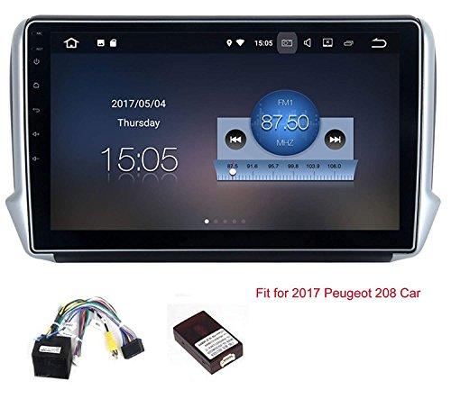 RoverOne Android 7.1 Sistema Navegación GPS del Coche para Peugeot 208 2008...