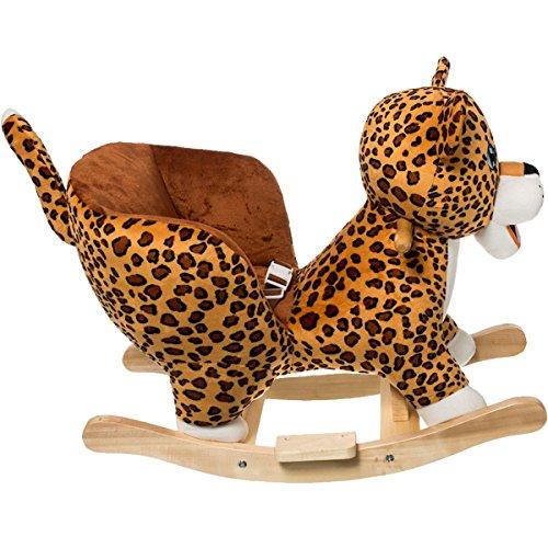 Stimo24 Schaukeltier Dschungel mit Sicherheitsgurt und Kippschutz (Leopard) - 3