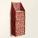#8: Archana Multipurpose Foldable Hanging Organizer (Red)