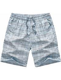 LSEREVER Pantalones Cortos Deportivos Casuales De Multicolor De Playa Con Cinta y Forro l0qSf