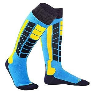 Citoor Skisocken Warm Ski Socken Winter Herren Damen Snowboard Socke Skifahren Wander Hohe Leistung Lange Schlauch Thermo 2 Paar